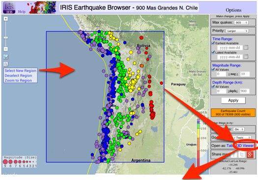 Ultimos Terremotos en el Mundo y Varias Regiones