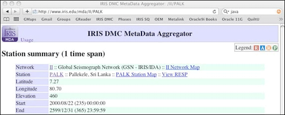 Screenshot of the MDA online tool