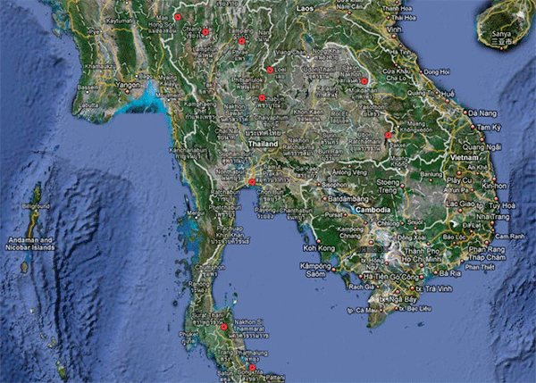 Thai Seismic Monitoring Network Map
