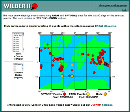 Screenshot of WILBER