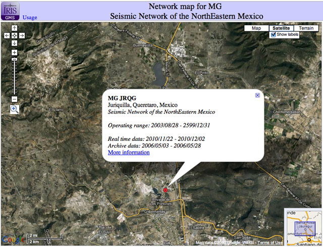 Screenshot of MG Network from NE Mexico