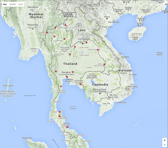 Thailand Data Map