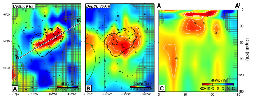 P-wave velocity structure of Yellowstone