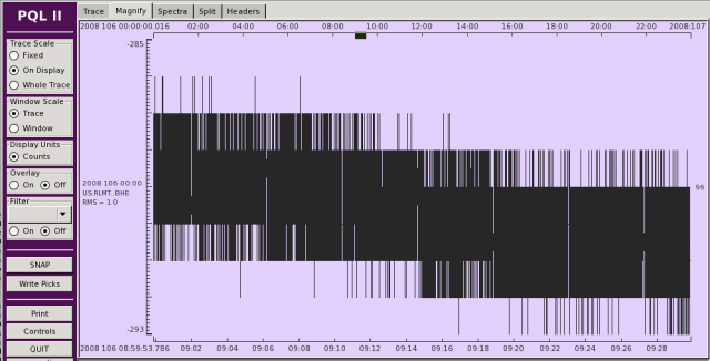 Digitizer Noise Trace View