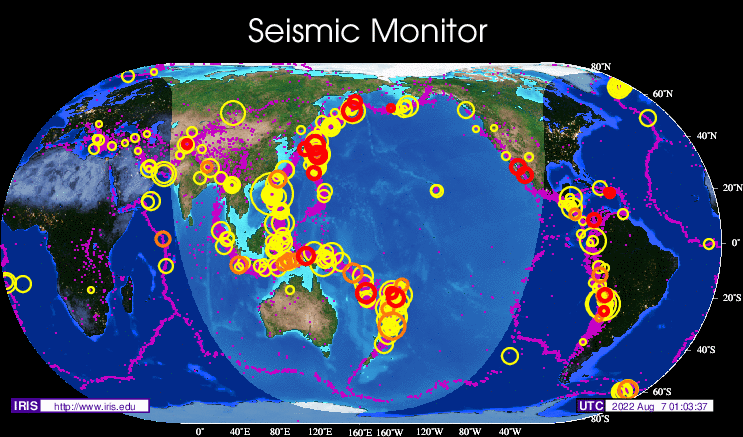 Automatic GEOFON Global Seismic Monitor