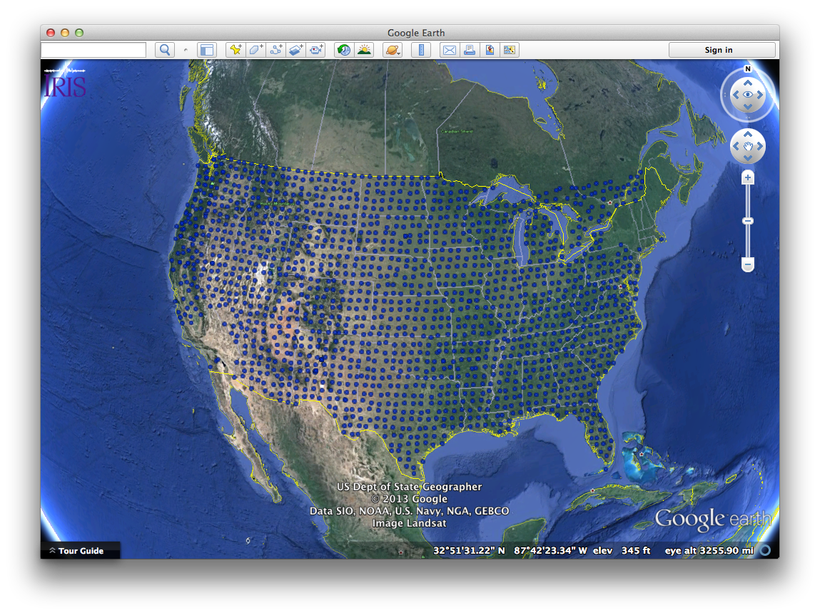 IRIS: Data Services: Nodes: DMC: Manuals: Google Earth Files