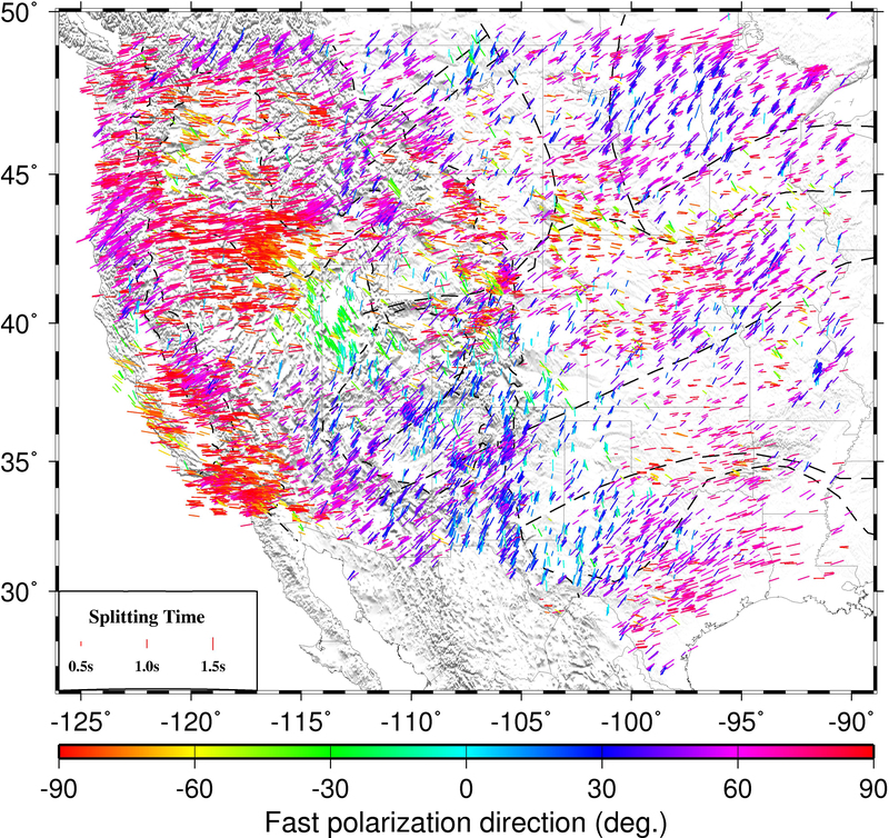 A snapshot of the Missouri  S&T western and central United States  shear-wave splitting database