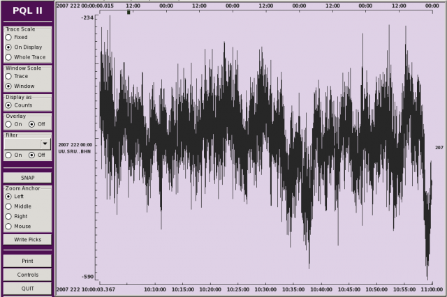 Diurnal Noise Quiet Trace View