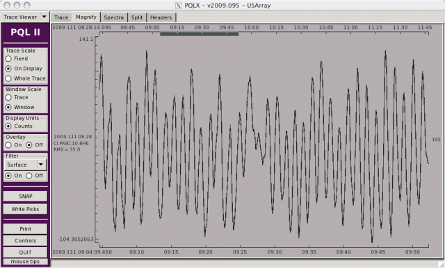 Harmonic Ringing Trace View