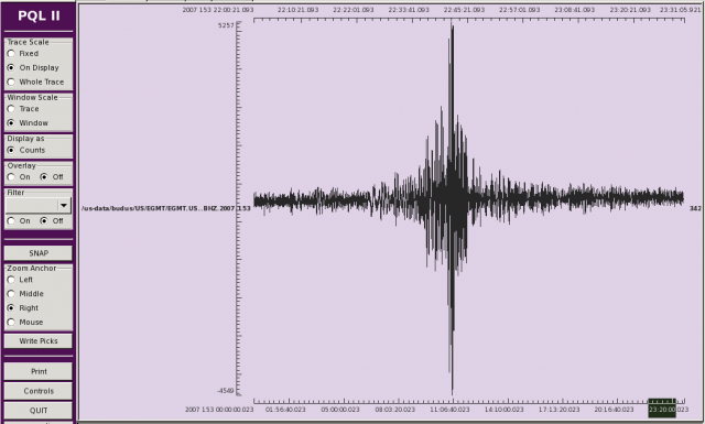Teleseismic Earthquake Trace View