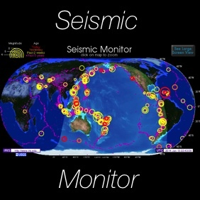 Seismic monitor recent earthquakes on a world map and much more gumiabroncs Choice Image